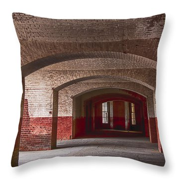 Row Of Arches Throw Pillow by Garry Gay