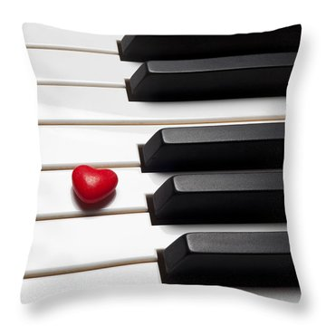 Row Of Piano Keys Throw Pillow by Garry Gay