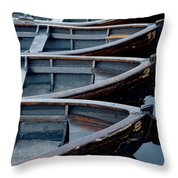 Rowboats Throw Pillow by Robert Lacy