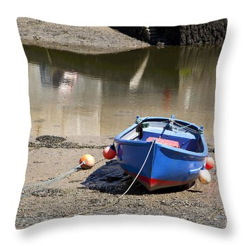 Rowing Boat Throw Pillow by Jane Rix