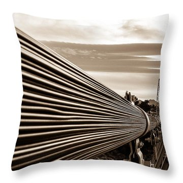 Royal Gorge Bridge Throw Pillow by Shannon Harrington