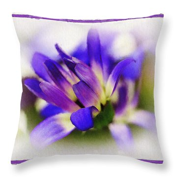 Throw Pillow featuring the photograph Royal Purple by Judi Bagwell
