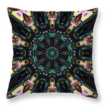 Throw Pillow featuring the digital art Royal Wedding by Alec Drake