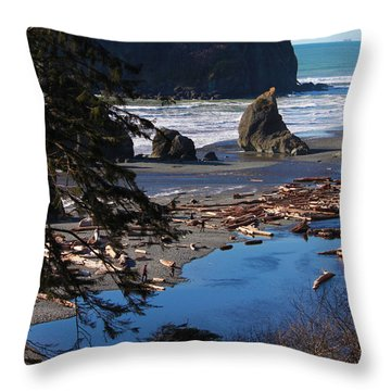 Ruby Beach IIi Throw Pillow