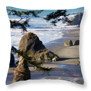 Throw Pillow featuring the photograph Ruby Beach Iv by Jeanette C Landstrom