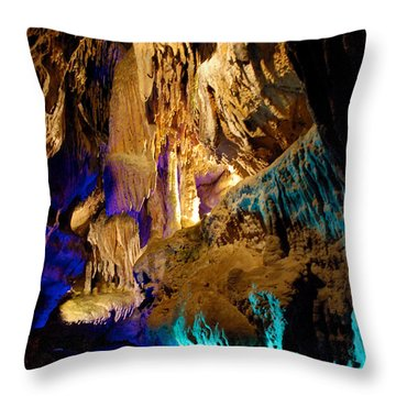Ruby Falls Cavern 2 Throw Pillow by Mark Dodd