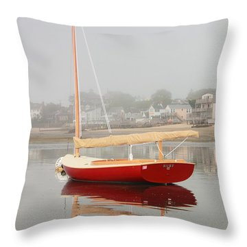 Ruby Red Catboat Throw Pillow