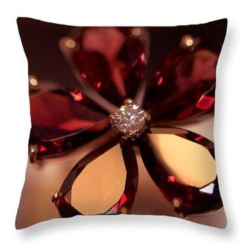 Ruby Ring. Spirit Of Treasure Throw Pillow by Jenny Rainbow
