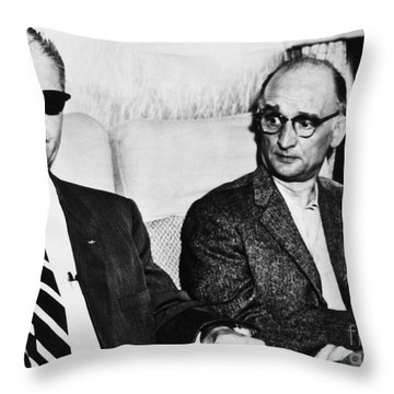 Rudolph Abel (1903-1971) Throw Pillow by Granger