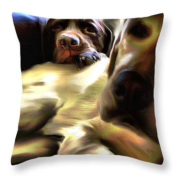 Rudy And Chopper Throw Pillow