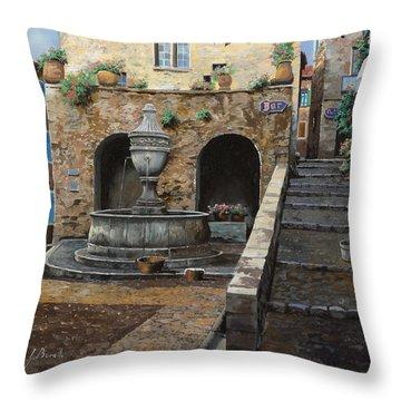 Rue Du Bresc A St Paul De Vence Throw Pillow by Guido Borelli