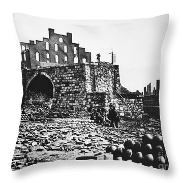 Ruins Throw Pillow by Photo Researchers