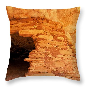 Ruins Structure Throw Pillow by Bob and Nancy Kendrick