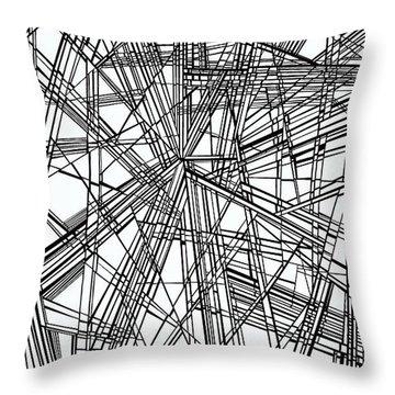 Run Throw Pillow by Douglas Christian Larsen