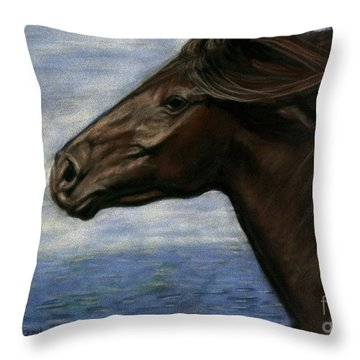 Run Free Throw Pillow by Sheri Gordon