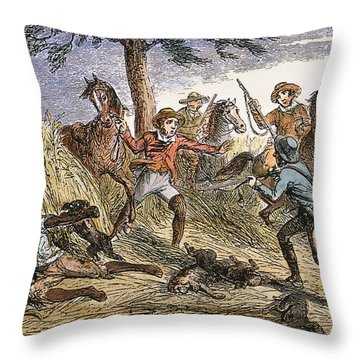 Runaway Slave Throw Pillow by Granger