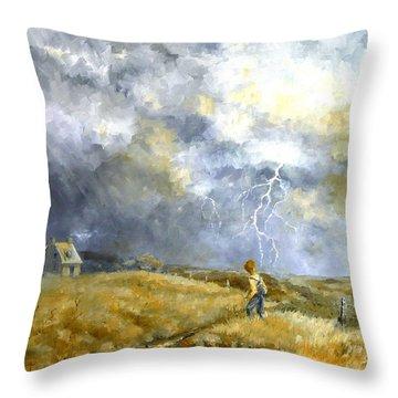 Running Home Throw Pillow by Marie Green