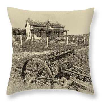 Rural Ontario Antique Throw Pillow by Steve Harrington