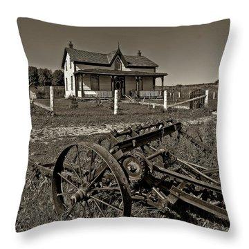 Rural Ontario Sepia Throw Pillow by Steve Harrington