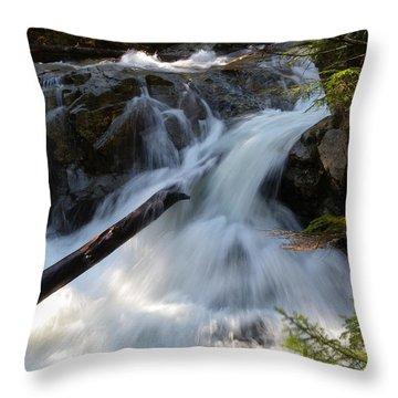 Rushing Falls Throw Pillow by Sarah Lamoureux