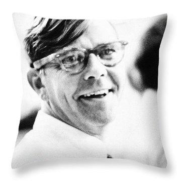 Russell Baker (1925- ) Throw Pillow by Granger