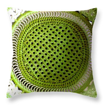 Throw Pillow featuring the photograph Russian Basket by Amy Sorrell