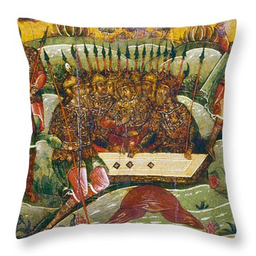Russian Icon: Dice Players Throw Pillow by Granger