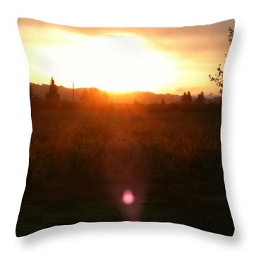 Russian River Sunrise Throw Pillow