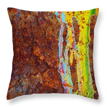 Rust Background Throw Pillow by Carlos Caetano