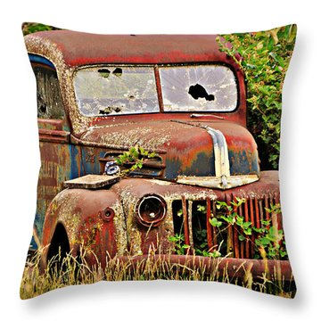 Rust Bucket Throw Pillow by Marty Koch