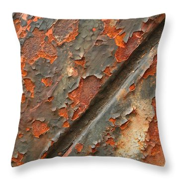 Rust IIi Throw Pillow by Winston Rockwell