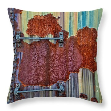 Rusted Art Throw Pillow by Susan Candelario