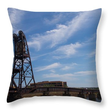 Throw Pillow featuring the photograph Rusted Bridge by Stephanie Nuttall