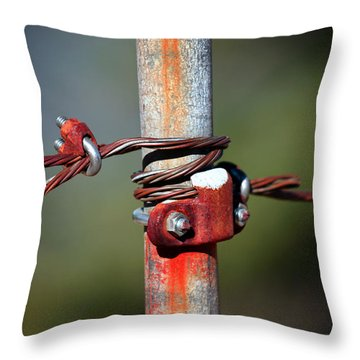 Rusted Fence Post 2 Throw Pillow