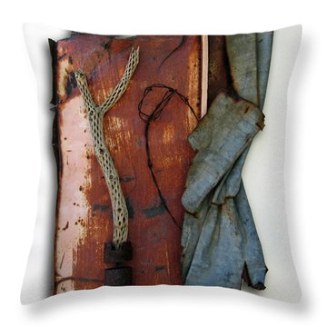 Rustic Elegance Throw Pillow by Snake Jagger