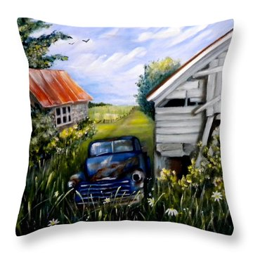 Rustic Partners Throw Pillow by Renate Nadi Wesley