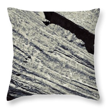 Rusty Anchor In Bw Throw Pillow