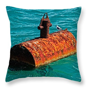 Rusty Bobber Throw Pillow by Christopher Holmes