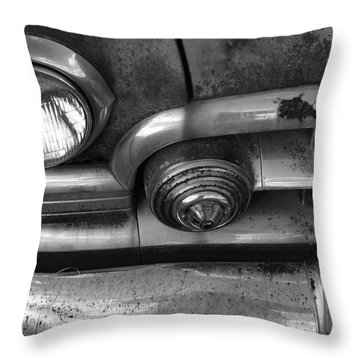 Rusty Cadillac Detail Throw Pillow by Lyle Hatch