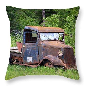Rusty Chevy Throw Pillow by Steve McKinzie