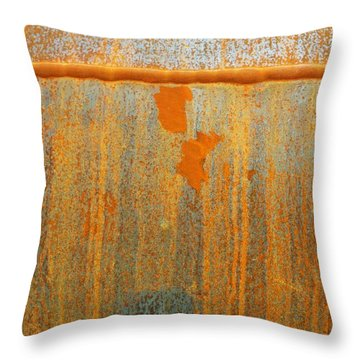 Rusty Lines I Throw Pillow by Anna Villarreal Garbis