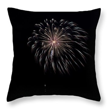 Throw Pillow featuring the photograph Rvr Fireworks 10 by Mark Dodd