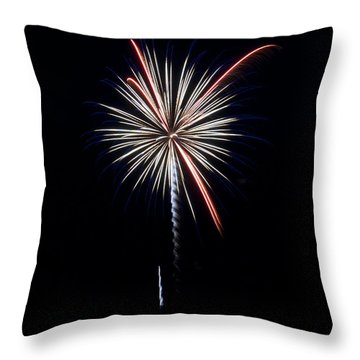 Throw Pillow featuring the photograph Rvr Fireworks 11 by Mark Dodd