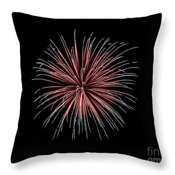 Throw Pillow featuring the photograph Rvr Fireworks 12 by Mark Dodd