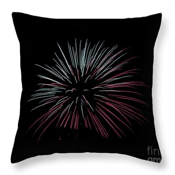 Throw Pillow featuring the photograph Rvr Fireworks 15 by Mark Dodd