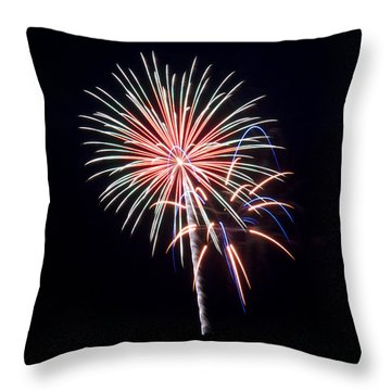 Throw Pillow featuring the photograph Rvr Fireworks 16 by Mark Dodd