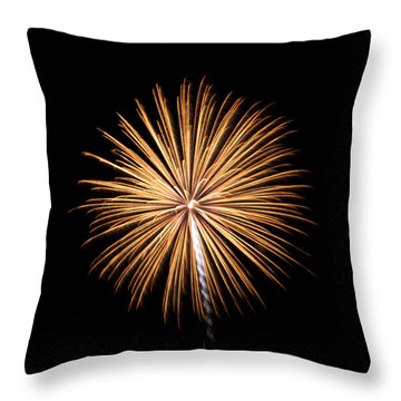 Throw Pillow featuring the photograph Rvr Fireworks 27 by Mark Dodd