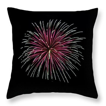 Throw Pillow featuring the photograph Rvr Fireworks 8 by Mark Dodd