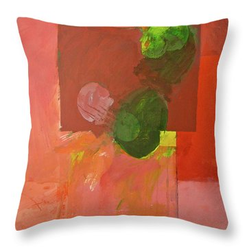 Ryb -red Throw Pillow