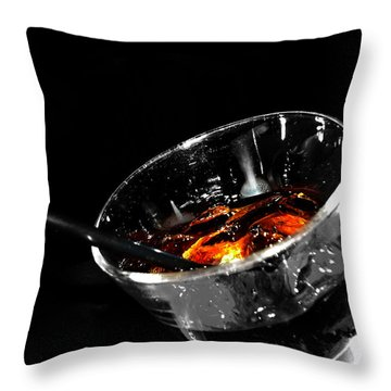 Rye And Coke Please Throw Pillow by Jerry Cordeiro